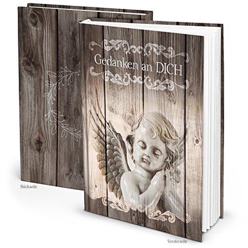 Kleines Trauerbuch Notizbuch Tagebuch GEDANKEN AN DICH - ENGEL SCHUTZENGEL DIN A5 Trauer bewältigen Trauerbuch vintage Geschenk Geburtstag Weihnachten Nostalgie (Schreiben Sie Ihre Seele)