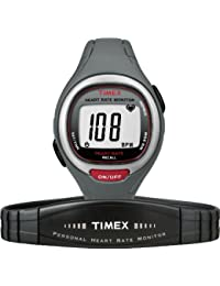 Timex T5K537 Heart Rate Monitor - Black/ Red