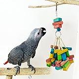 Limin Uccello giocattolo da masticare, colorato in legno durevole corda di cotone appeso blocchi di costruzione morso grande medio piccolo pet uccello stand rack gioco giocattolo pappagallo forniture