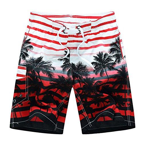 West See Herren Beach Shorts Sommer Badeshorts Vert Shorts bequem  Boardshorts Cool Bermuda Strandshorts Elastisch Badehose