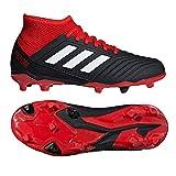 adidas Unisex-Kinder Predator 18.3 FG Fußballschuhe, schwarz/rot/weiß, 37 1/3 EU