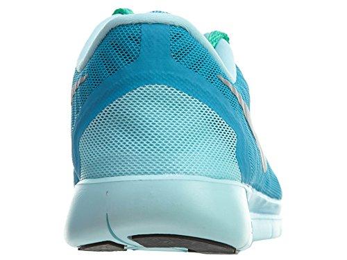 Nike Free 5.0 (GS) Mädchen Sneakers BLUE LAGOON/MIDNIGHT NAVY/COPA/METALLIC SILVER