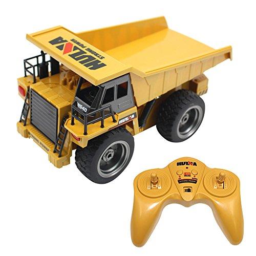 RC Engineering Vehicle, Samber 2.4 GHz Fernbedienung RC Fahrzeuge mit Funktion, Lichtern und Simulationsklang Elektrisch Spielzeug (LKW) (Fernbedienung Für Lkw-spielzeug)