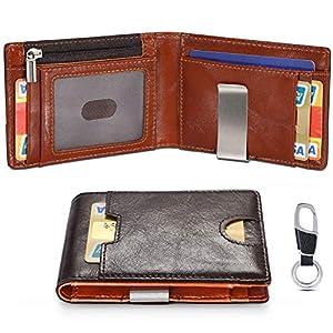 flintronic Portia Carte di Credito e Tasche Pelle, RFID/NFC Blocco Portafoglo, (1 Scomparto Con Cerniera, 6 Slot Per… 3 spesavip