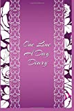 One Line A Day Diary: 5 Years Of Memories, Blank Date No Month, 6 x 9, 365 Lined Pages