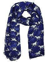 Arrowhunt Women's Horse Print Scarf Wraps Shawl Soft Scarves