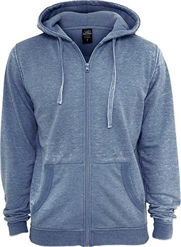 Urban Classics Burnout Zip Hoody Sweats à capuche blue