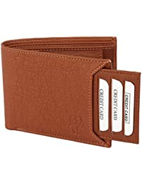 Samtroh Bi-Fold Tan Artificial Leather Hand Crafted Wallet for Men and Boys