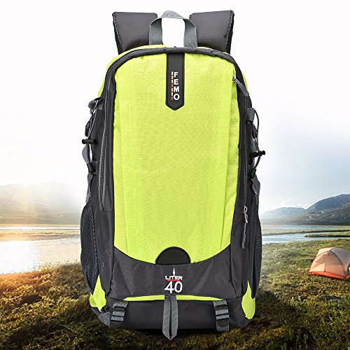 Femo Sport-Rucksack, 40 Liter, wasserdicht, leicht, für Outdoor-Aktivitäten, Wandern, Rucksack für Damen & Herren, grün