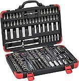 Vigor Steckschlüssel-Satz (172 Einzelteile, inkl. Umschaltknarren, Verlängerungen, verschiedenen Steckschlüsseln und Bits) V2461N