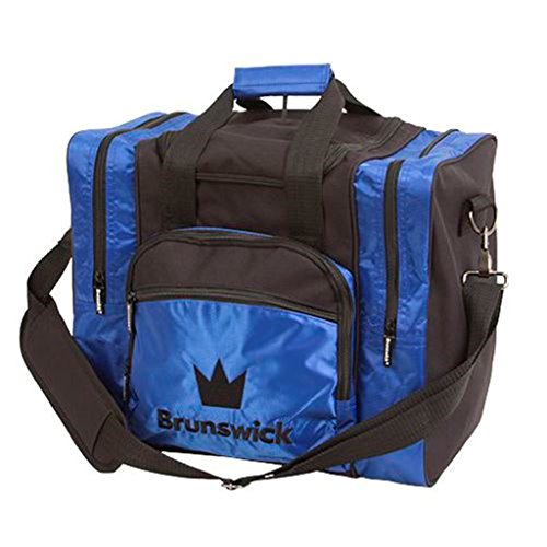 Brunswick Edge Single Tote Bowling Bag, Blau