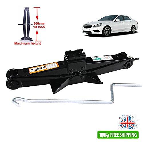 Auto Schere Auto Lift Jack Wind Stabilisator rostfrei 2T/35,6cm, für Mercedes-Benz A-Klasse C-Klasse E-Klasse S-Klasse SLK CL