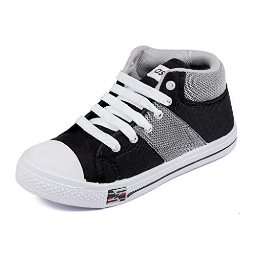 Asian Shoes PARIS 31 Black Grey Womens Casual Sports shoes 4 UK/Indian