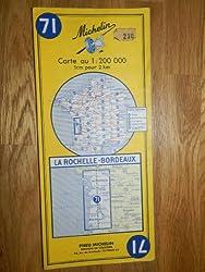 carte routière michelin n°71 LA ROCHELLE - BORDEAUX