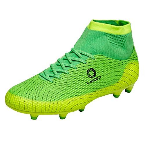 Ben Sports Tf AG FG Entraînement de Football Homme Garçon Boots Chaussures de Football Mixte Adulte Enfant,33-45 AG/FG-vert