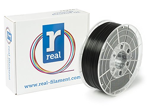 Price comparison product image Real Filament 8719128324807 Real PLA,  Spool of 1 kg,  1.75 mm,  Black