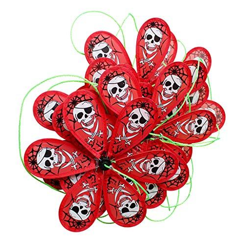 mühlen Lange Wind Spinner Band für Garten Rasen Balkon Halloween Dekoration, Scared Windspiel - Totenkopf ()