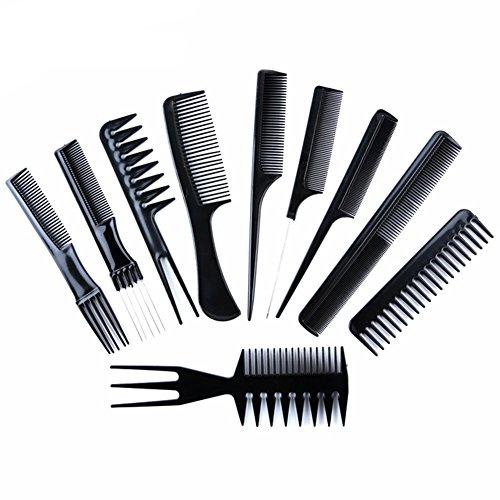 Leisial 10 Pcs Peigne à Cheveux en Plastique Environnemental Anti-Statique pour Outils de Coiffure