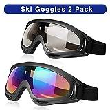Best Skis - Bornfeel Masque de Ski Lunettes de Snowboard 2pcs Review