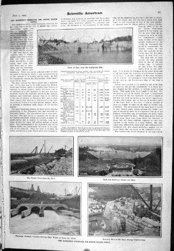 old-original-antique-victorian-print-1905-scientific-american-wachusett-reservoir-boston-water-suppl