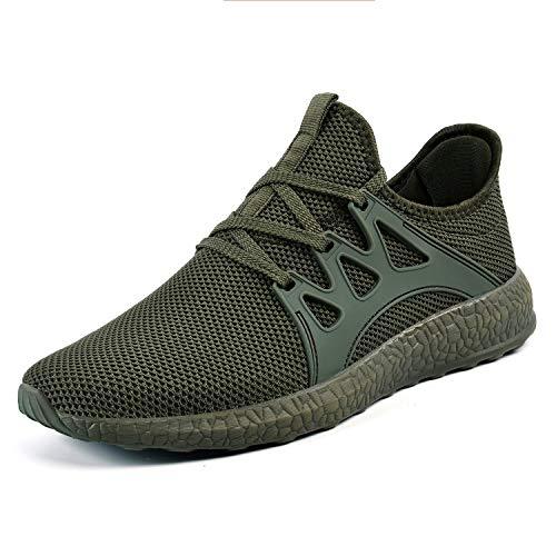ZOCAVIA Herren Damen Sneaker Running Laufschuhe Sportschuhe rutschfeste Sneaker Grün 39 EU (Schuhe Grün Running)