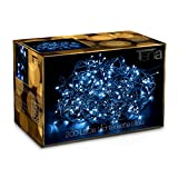 Tenia 200 LED Lichterkette Blau Innen/Außen 20M Weihnachten Gartenbeleuchtung