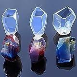 TOOGOO 3x Molde de silicona transparente flor de resina seca Artesania decorativa molde de piedra de bricolaje Forma de molde de resina epoxi para moldes