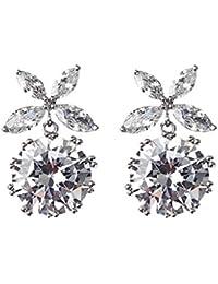 Twinmond Women Earrings Jewellery Rose Gold Drop Party Wedding Dangle Earrings set for Women Girls Gift