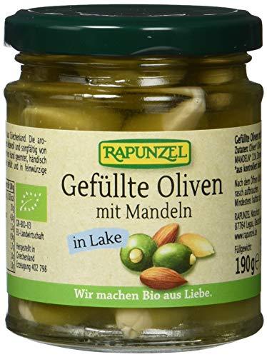 RAPUNZEL Oliven grün, gefüllt mit Mandeln in Lake, 3er Pack (3 x 110 g) - Bio