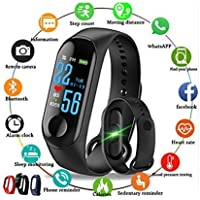 Skoril M3 Bluetooth Fitness Smart Health Band/Smart Fitness Band Compatible for All Device (Black)