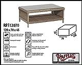 Raffles Covers RFS12070 Schutzhaube für Ottoman 120 x 70 H: 45 cm Schutzhülle für Lounge Tisch, Hocker Abdeckung, Schutzhülle Hocker