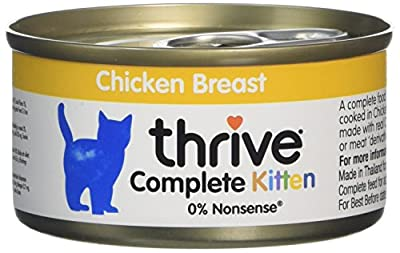 Thrive 100 Percent Complete Kitten Food Chicken (Pack of 12 Tins) by petproject