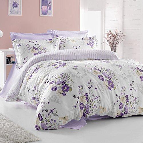 Almería 100% algodón funda de edredón juego de ropa de cama juego...