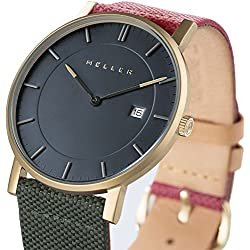 Meller Unisex Balk Biplanet Minimalist Watch with Grey Analogue Display and Leather Strap