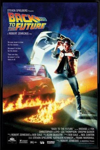 1art1 Zurück In Die Zukunft Poster und Kunststoff-Rahmen - Michael J Fox, Christopher Lloyd (91 x 61cm)