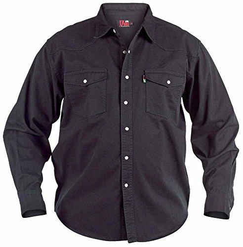 Hommes Quality Chemise En Jeans Tailles S - XXL Noir - Noir