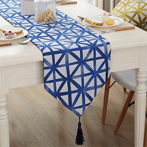 n/Dekoration schlicht und modern die gelben Flaggen Table Table runner bar Geometrie, 32 * 180 CM, Navy Blue ()
