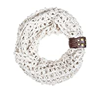 Off White Sonia Crochet Cowl Scarf