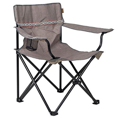 BO-Camp Klappstuhl Romford Camping Stuhl Strandstuhl Faltsstuhl Angelstuhl Mit Becherhalter 100 kg