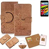 K-S-Trade 360° Cover cork Case for Archos 55b Cobalt Lite