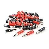 TOOGOO(R)Clavija jack de platano de tipo de tornillo conector de cable de altavoz de audio 30pzs