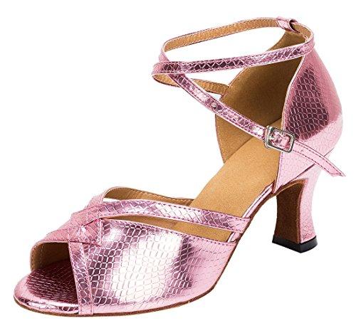 TDA - Peep-Toe donna 7cm Heel Pink