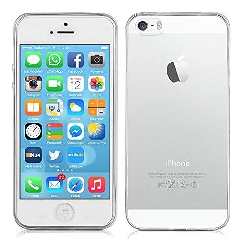 ArktisPRO Premium Apple iPhone 55S Coque de protection en TPU–Crystal