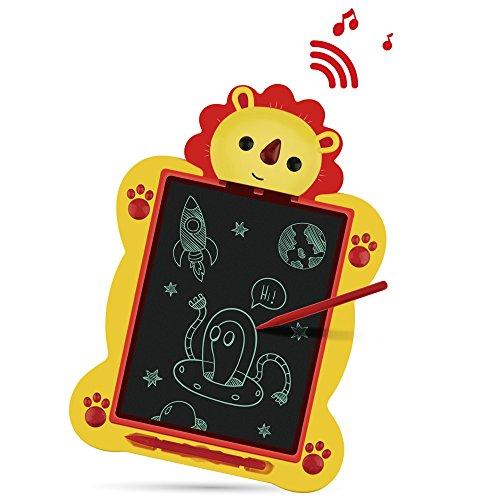 Maxbeauty Kids Writing und Lernen Doodle LCD Drawing Board Portable 8,5 Zoll Musik Tablet Case Handschrift Set für Kinder Pädagogische Spielzeug für 3 + Jahre alt - Cute Lion