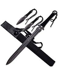 Survivor Jaschigo Schwert Fantasy schwarz Edelstahl gesamt 63,5 cm Full Tang NEU