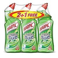 Harpic Active Liquid Toilet Cleaner - Pine, 3 Packs of 750ml