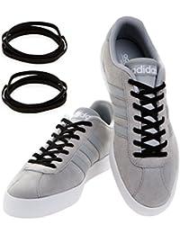 MAXXLACES Flache elastische Schnürsenkel mit einstellbarer Spannung in verschiedenen Farben Schuhbänder ohne Binden komfortable Schuhbinden einfach zu bedienen Passt zu jedem Schuh