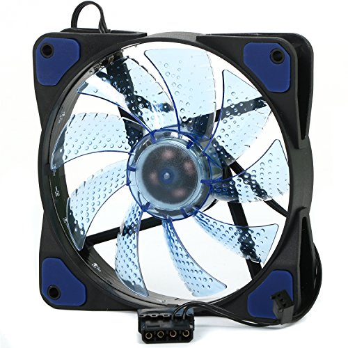 TRIXES LED PC Lüfter in Blau, 120mm