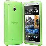HTC One Mini Hülle Case Schutzhülle Silikon Cover für HTC One Mini M4 (Grün)