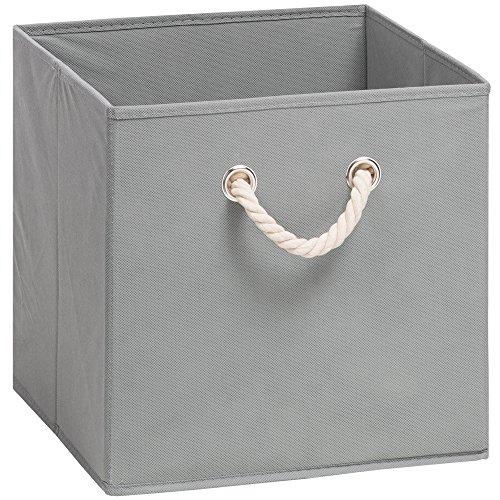 Grau Metall Füße Verchromt Stetig Aufbewahrungsbox